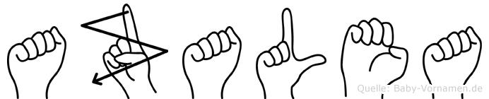 Azalea in Fingersprache für Gehörlose