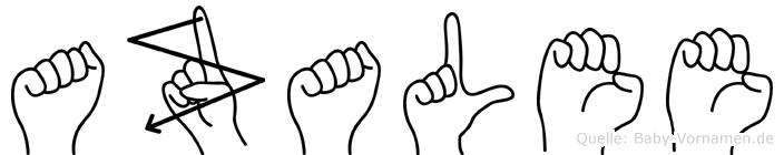 Azalee in Fingersprache für Gehörlose