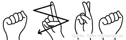 Azra im Fingeralphabet der Deutschen Gebärdensprache