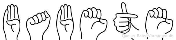 Babete in Fingersprache für Gehörlose