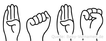 Babs im Fingeralphabet der Deutschen Gebärdensprache