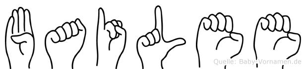 Bailee in Fingersprache für Gehörlose