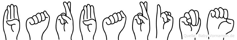 Barbarine im Fingeralphabet der Deutschen Gebärdensprache