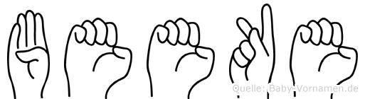 Beeke in Fingersprache für Gehörlose