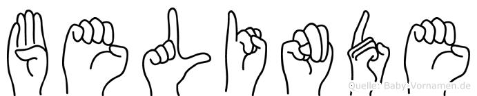 Belinde in Fingersprache für Gehörlose