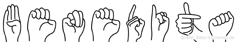 Benedita im Fingeralphabet der Deutschen Gebärdensprache