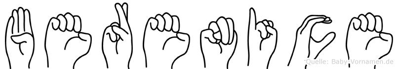 Berenice in Fingersprache für Gehörlose