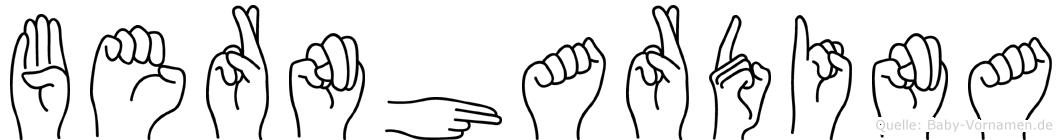 Bernhardina in Fingersprache für Gehörlose