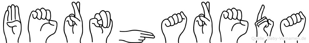 Bernhareda im Fingeralphabet der Deutschen Gebärdensprache