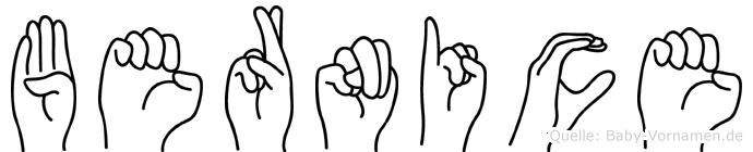 Bernice in Fingersprache für Gehörlose