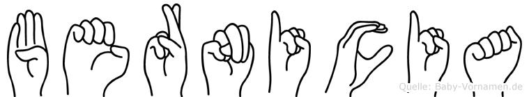 Bernicia in Fingersprache für Gehörlose