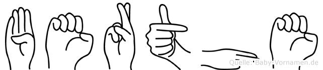 Berthe in Fingersprache für Gehörlose