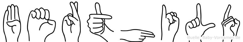 Berthild in Fingersprache für Gehörlose