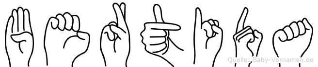 Bertida in Fingersprache für Gehörlose