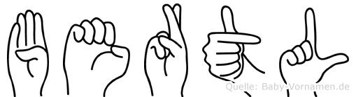 Bertl in Fingersprache für Gehörlose