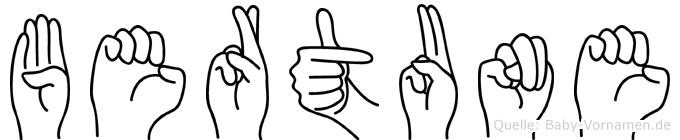 Bertune in Fingersprache für Gehörlose