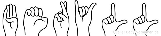 Beryll in Fingersprache für Gehörlose
