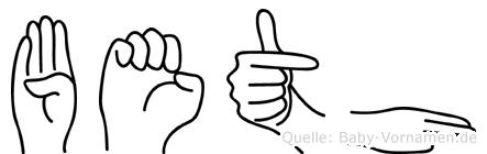 Beth in Fingersprache für Gehörlose