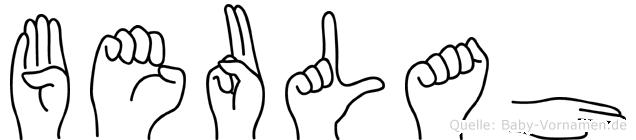 Beulah in Fingersprache für Gehörlose