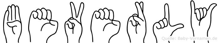 Beverly in Fingersprache für Gehörlose