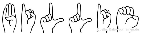 Billie im Fingeralphabet der Deutschen Gebärdensprache