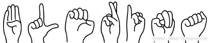 Blerina in Fingersprache für Gehörlose