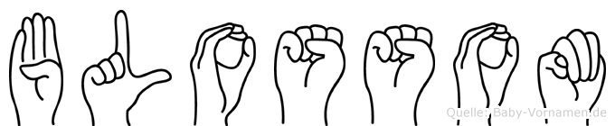 Blossom im Fingeralphabet der Deutschen Gebärdensprache