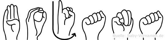 Bojana im Fingeralphabet der Deutschen Gebärdensprache