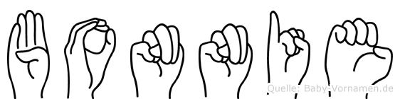 Bonnie im Fingeralphabet der Deutschen Gebärdensprache