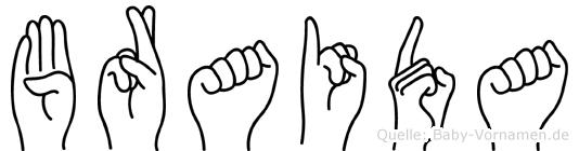 Braida in Fingersprache für Gehörlose