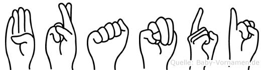Brandi in Fingersprache für Gehörlose