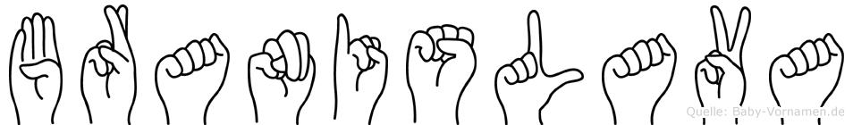 Branislava in Fingersprache für Gehörlose