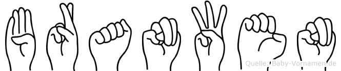 Branwen im Fingeralphabet der Deutschen Gebärdensprache