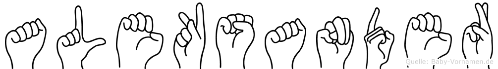 Aleksander in Fingersprache für Gehörlose