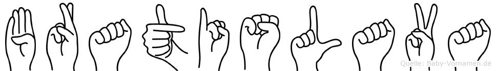 Bratislava in Fingersprache für Gehörlose