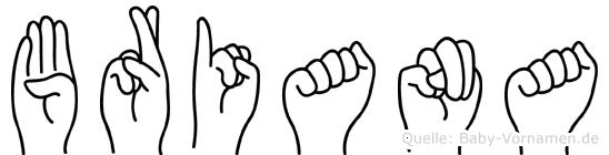 Briana in Fingersprache für Gehörlose