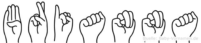 Brianna im Fingeralphabet der Deutschen Gebärdensprache