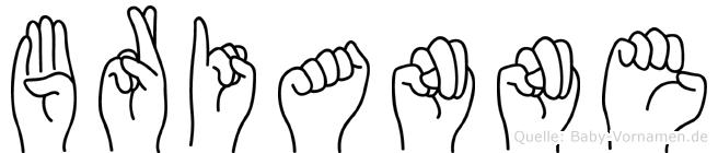 Brianne in Fingersprache für Gehörlose