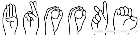 Brooke in Fingersprache für Gehörlose