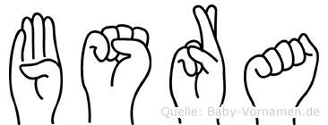 Büsra im Fingeralphabet der Deutschen Gebärdensprache