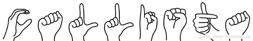 Callista in Fingersprache für Gehörlose