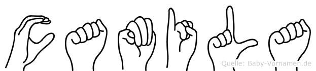 Camila im Fingeralphabet der Deutschen Gebärdensprache