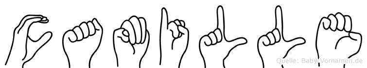 Camille im Fingeralphabet der Deutschen Gebärdensprache