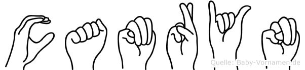 Camryn im Fingeralphabet der Deutschen Gebärdensprache