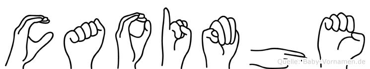 Caoimhe im Fingeralphabet der Deutschen Gebärdensprache
