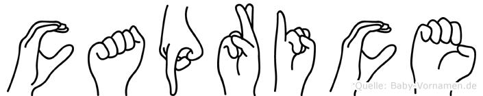 Caprice in Fingersprache für Gehörlose