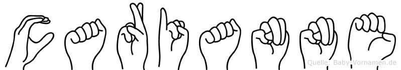 Carianne im Fingeralphabet der Deutschen Gebärdensprache