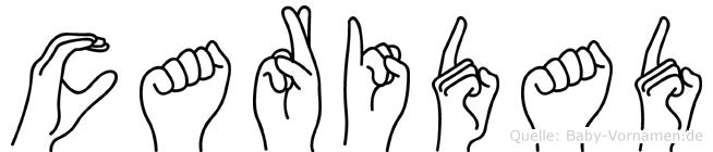 Caridad in Fingersprache für Gehörlose