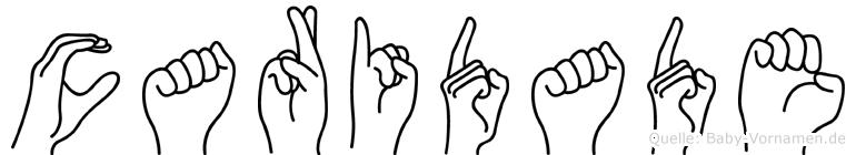Caridade im Fingeralphabet der Deutschen Gebärdensprache