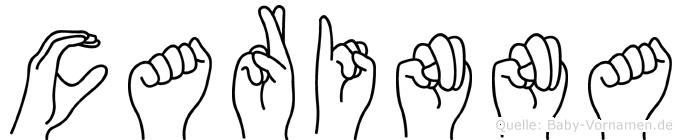 Carinna in Fingersprache für Gehörlose